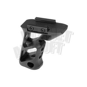 Metal CNC Picatinny Long Angled Grip ( Black )