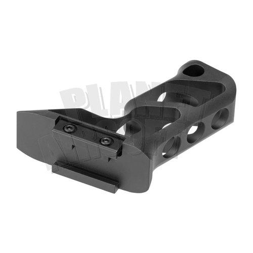 Metal Metal CNC Picatinny Long Angled Grip : Zwart