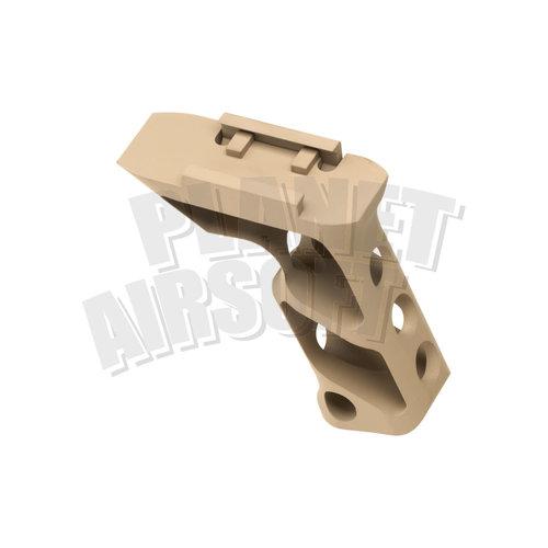 Metal Metal CNC Picatinny Long Angled Grip : Dark Earth