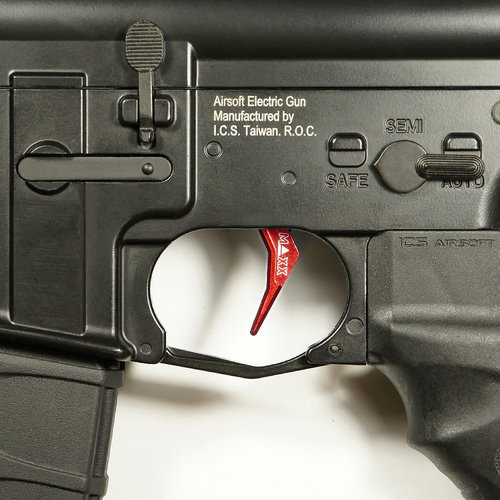 MAXX Model MAXX Model CNC Aluminum Advanced Trigger (Style B) : Rood