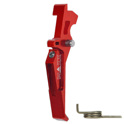 MAXX Model MAXX Model CNC Aluminum Advanced Trigger (Style E) : Rood