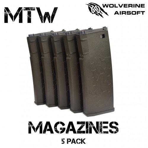 Wolverine Wolverine Airsoft MTW Magazines - 5 Pack