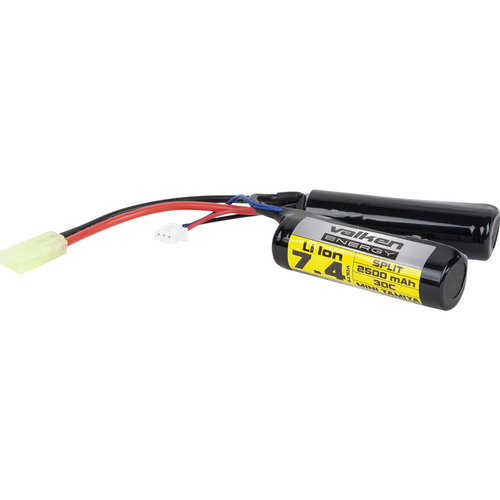 Valken Valken Airsoft Battery - Li-Ion 7.4V 2500mAh Split Style (High Output)