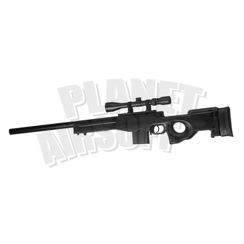 WELL Well L96 AWP Sniper Rifle Set Upgraded : Zwart