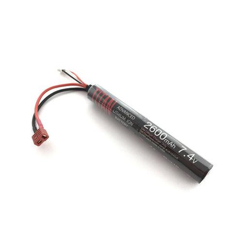 Titan Power Titan 2600MAH 7.4V Airsoft Battery Stick T-Plug (Deans)