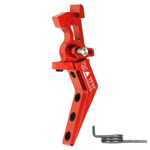 MAXX Model CNC Aluminum Advanced Speed Trigger (Style A) : Rood