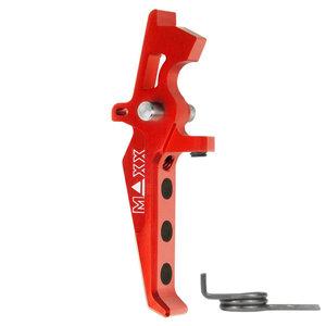 MAXX Model CNC Aluminum Advanced Speed Trigger (Style E) : Rood