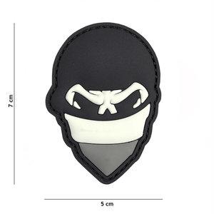 101 Inc. Embleem 3D PVC Polish skull balaclaca grijs - 2083