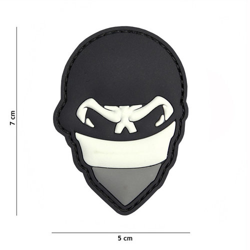 101 Inc. 101 Inc. Embleem 3D PVC Polish skull balaclaca grijs - 2083