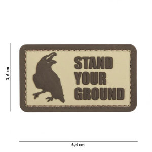 101 Inc. Embleem 3D PVC Stand Your Ground coyote - 12048