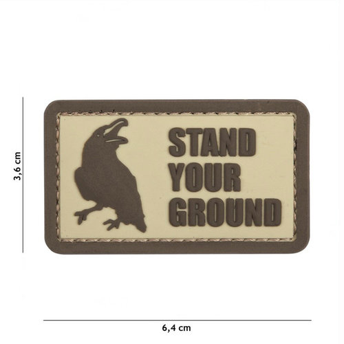 101 Inc. 101 Inc. Embleem 3D PVC Stand Your Ground coyote - 12048