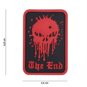 101 Inc. 101 Inc. Embleem 3D PVC Skull The End rood - 9024