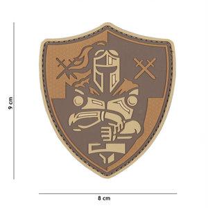 101 Inc. Embleem 3D PVC Ridder schild bruin - 12047