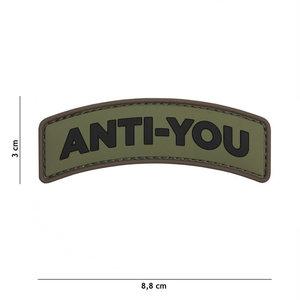 101 Inc. 101 Inc. Embleem 3D PVC Anti-You groen - 11119