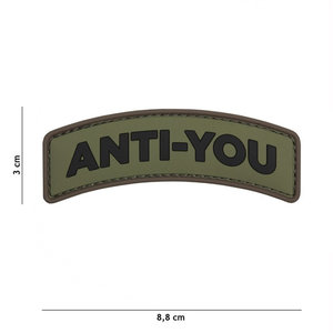 101 Inc. Embleem 3D PVC Anti-You groen - 11119