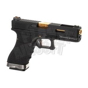 WE G-Force 17 BK Gold Barrel Metal Version GBB
