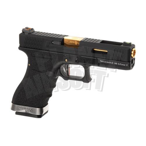WE WE G-Force 17 BK Gold Barrel Metal Version GBB