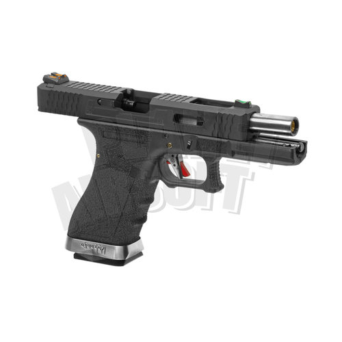 WE WE G-Force 17 BK Silver Barrel Metal Version GBB