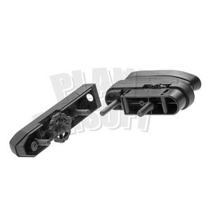 Ares / Amoeba STRIKER Tactical Advanced Butt Pad & Cheek Pad : Zwart