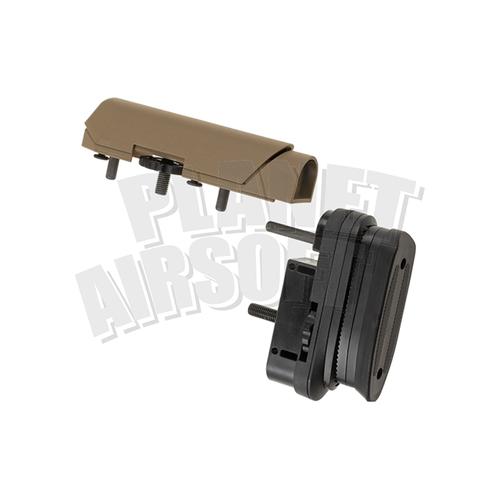 Ares / Amoeba Ares/Amoeba STRIKER Tactical Advanced Butt Pad & Cheek Pad : Dark Earth