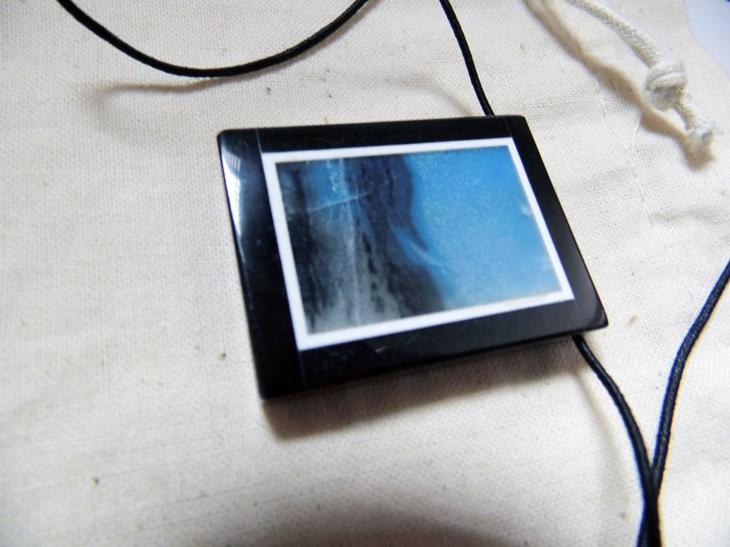 Gem pendentif en pierre naturelle amazonite bleue
