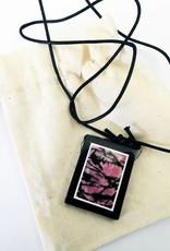 Gem Ciondolo in pietra naturale Rhodonite