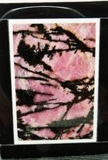 Piedra de gema colgante Natural Rhodonita
