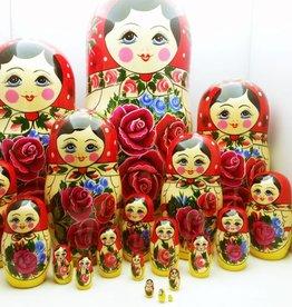 Παραδοσιακή ξύλινη κούκλα Matryoshka (Μ20 κομμάτια) 34-36cm cm ύψος