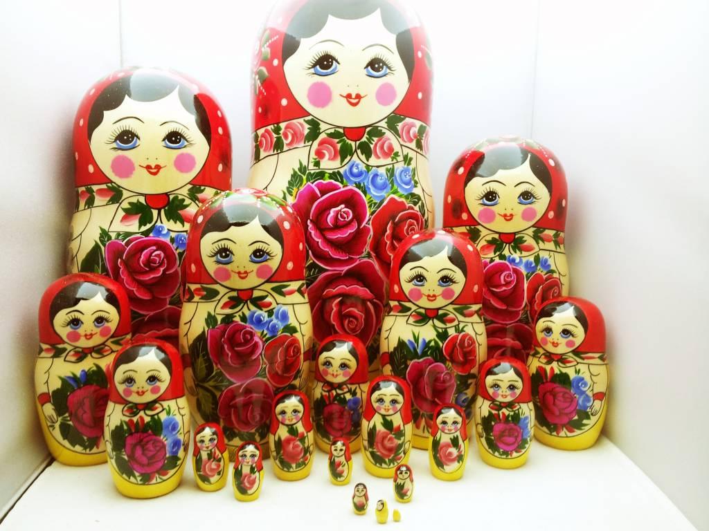 Παραδοσιακή ξύλινη κούκλα Matryoshka (Μ20 κομμάτια) 34-36cm ύψος