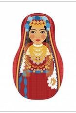 Matrjosjka babusjka matrusjka babushka matruska eller rysk docka - Maatuska