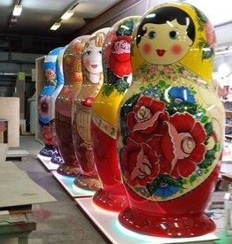 SPLENDOR Mega duże ręcznie malowane matrioszki