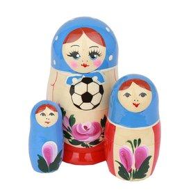 russian Splendor Nosso Campeonato Mundial de Futebol Matrioska (M3-incl Football ca 10-12cm)