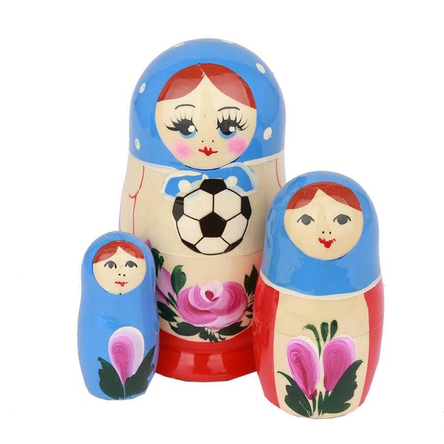 russian Splendor Notre coupe du monde de football Matriochka 2018