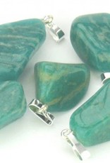 Amazonite with silver pendant, Cartier slot and Gift Bag