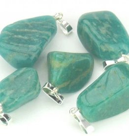 Amazonite with silver pendant, Cartier slot and l Gift bag
