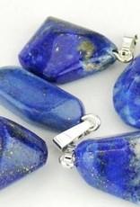 Lapis Lazuli met verzilverde hanger, Cartier sluiting en Kadozakje