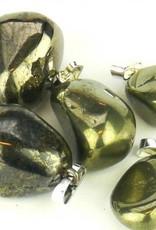 Gold mit Pyrit silbernen Anhänger, Cartier Schließung und Geschenktüte