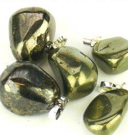 Pyrit guld med silver hänge, Cartier stängning och presentpåse