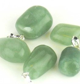 Jade - Nephrite with silver pendant, Cartier closure and gift bag