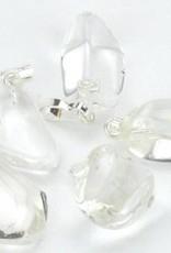 Bergkristal gemstone met zilveren hanger, Cartier sluiting en kadozakje