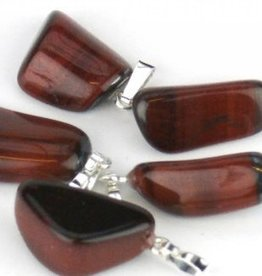 Tigereye Gemstone with silver pendant, Cartier closure and gift bag