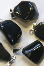 Onyx Silber Anhänger, Cartier Schließung und Geschenktüte