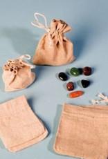 Calcit orange med sølv vedhæng, Cartier lukning og gavepose