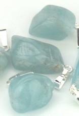 Aquamarin Anhänger mit Silber, Cartier Schließung und Geschenktüte