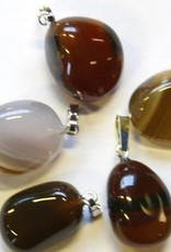 Opal-agate with silver pendant, Cartier closure and gift bag