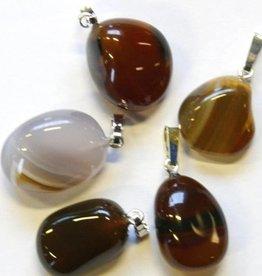 Opal-Achat mit Silber-Anhänger, Cartier Schließung und Geschenktüte