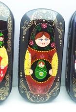 Matrioska Boneca russa caso de óculos