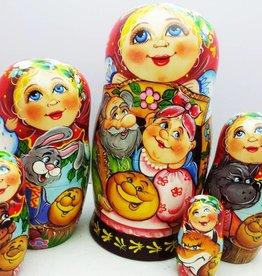 Matryoshka (5) Collection Princes-18 cm high