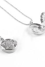 Zilveren medaillon hanger - (Unakita, gousteen,quarz,malachieT, amethyst ,of , lapizlazuli)