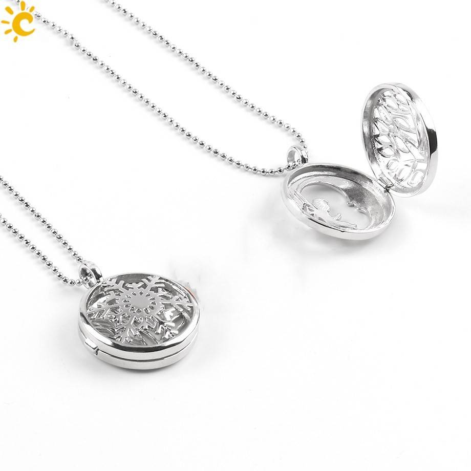 SPLENDOR Gümüş Madalyon Kolye - (Unakita, Goldstein, Kuvars, Malakit, Ametist veya Lapis Lazuli)
